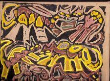 CAT FANTASY  by RUTH  FREEMAN MIXED MEDIA ON CANVAS 9 X12