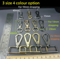 Metal Bag Clasps Lobster Swivel Trigger Clip Snap Hook for webbing 10 14 16 39mm