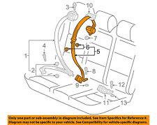 VW VOLKSWAGEN OEM 09-14 Jetta Rear Seat Belt-Center Middle 1K9857807PRAA