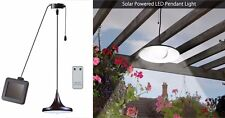 Solar Powered Garden Patio Hanging Shed LED Lamp Pendant Light + Remote Control