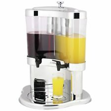 Beverage Dispenser With Ice Chamber Two 10L Containers Polycarbonate and