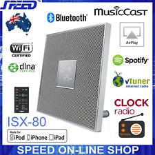 Yamaha ISX-80 MusicCast Bluetooth AirPlay Clock Radio 30W Speaker – White