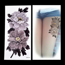Fake Temporary Tattoo Sticker China Peony Flower Arm Body Waterproof Women AB CA