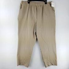 Craft & Borrow Womens Khaki Pants Stretch Waist Light Brown size 3x Short NWT