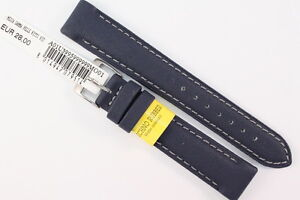 MORELLATO: Uhrenarmband 18mm Techno Rubber Kautschuk Blau water resist. Sport