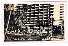 Cabana Club Pool Hotel El Panama City Real Photo Postcard Unused 1950s