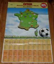 POSTER FOOTBALL 1980-1981 ONZE CALENDRIERS D1 D2 (GROUPE B) ECUSSONS CLUBS