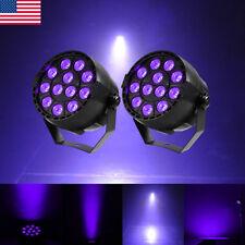 2Pcs 12 LEDs UV Black  Light DMX512 Par Can Stage Lighting Disco Theater Club DJ