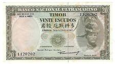 New listing Banco Nacional Ultramarino - Timor - 20 Escudos, 1967