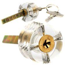 Locksmith Pick Visible Clear Transparent Practice Padlock Training Cross Lock