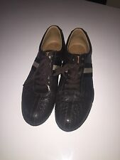 Bally Tennis Shoes Frenz Brown Lace Up Sneakers Shoes Size 11 Leather NIB