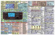 ICOM IC-746PRO  AMATEUR HAM RADIO DATACHART EXT. LARGE GRAPHICAL INFORMATION