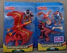 FISHER PRICE IMAGINEXT SHREDS THE RAPTOR &  GLIDE THE PTERODACTYL DINOSAURS