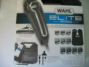 WAHL ELITE PRO HAIR CUTTING KIT W/ METAL CLIP GUIDE COMBS MADE IN THE USA