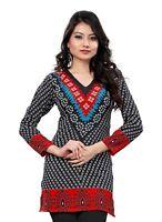 UK STOCK - Women Fashion Indian Short Kurti Tunic Kurta Top Shirt Dress 76A