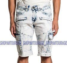Affliction Hunter Fallen Fulton 110DS105 New Denim Fashion Cargo Shorts For Men