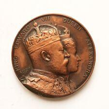1902 Edward VII Coronation Medallion Fuchs Presented by Metropole Hotel SNo46413