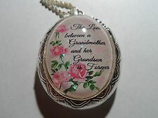 Between A Grandmother Grandson Locket Silver Plated (Pink) Victorian The Love