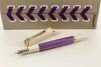 Pelikan Souverän® 600 Violett-Weiß Füller Fountain Pen Special Edition Goldfeder