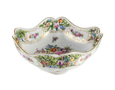 Dresden Carl Thieme Hand Painted Floral Reticulated Centerpiece Bowl, c1910
