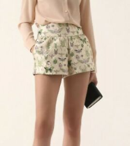 212. Red Valentino NWT Brocade Insect High Waist Shorts $395 40 M