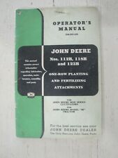 John Deere No 112b 118b Amp 123b One Row Planter Attachments Operators Manual