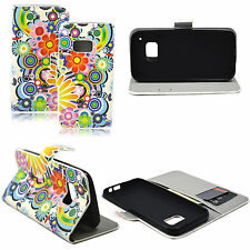 Leather Horizontal Stand Wallet Style Pocket Flip Case Cover For HTC ONE M9