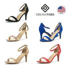 DREAM PAIRS Women's Ankle Strap Stilettos Heel Sandals Open Toe Dress Shoes