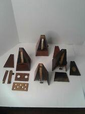 Vtg Lot of 4 Metronomes 2 De Maelzel 2 Unknown for Parts or Repair