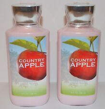 LOT OF 2 BATH & BODY WORKS COUNTRY APPLE LOTION CREAM HAND SHEA BUTTER SIGNATURE