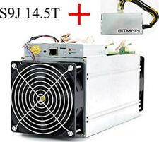 Bitmain Antminer s9-s9j 14.5 Th/s Bitcoin Miner Incl. Alimentatore * NUOVO *