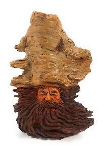 Vintage Stephen Herrero Wood Tree Carving Sculpture Gnome Old Man Signed Number