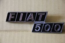 CLASSIC FIAT 500 BADGE EMBLEM METAL - BRAND NEW - HIGHEST QUALITY