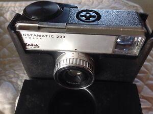 Vintage Kodak 233 Instamatic, Sony Cyber Shot cameras