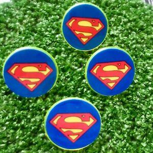 "25MM  ""SUPERMAN""  STUDDED  PLASTIC  GOLFBALL  MARKERS  FREE U.K.P&P"