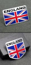 ALUMINUM England Flag Emblem Sticker 3D Decal COMBO PACK For Auto, Car, Truck