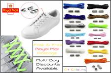 Shoe Laces No Tie Locking Sneakers Unisex Kids Shoelaces Screw White