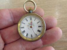 Pocket Watch Working Antique Gunmetal Fob /