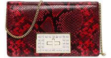MICHAEL Michael Kors Ellie Medium Shoulder Flap Bag RED/ GOLD