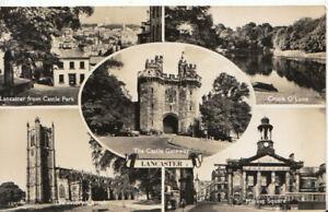 Lancashire Postcard - Views of Lancaster - Real Photograph - Ref TZ6138