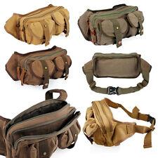 Para Hombre De Lona Militar Messenger Hombro Travel Bags senderismo Fanny Bolsitos