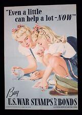 """1942 Ladies' Home Journal """"Buy U.S. War Stamps & Bonds"""" WWII Poster"""