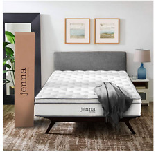 """Modway Jenna 10"""" Full Innerspring Mattress Quality Quilted Pillow Top White"""