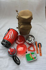 JETBOIL KHAKI CARRY POUCH HUNTING  ZIP FLASH LITE SURVIVAL CAMPING HIKING