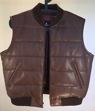 Women's Liz Clairborne Lizport Insulated Leather Vest size S Brown NBW Mint