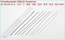 999er 1m lang 0,5mm DICK Feinsilber-Draht 5,99€//m