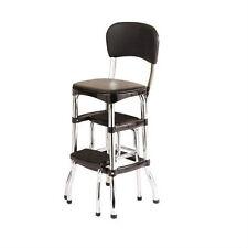 New listing New Vintage Kitchen Retro Chair Bar Step Stool Black Cosco 11-120Cbb1