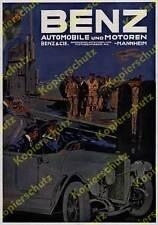 orig. Reklame Benz & Cie. U-Boot Kaiserliche Marine Mannheim Auto Motoren 1917