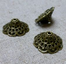 Antique Bronze Bead Cap - Pack of 10