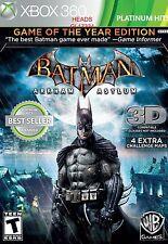 BATMAN: ARKHAM ASYLUM (GOTY EDITION) (XBOX 360, 2010) (0929) *FREE SHIPPING USA*